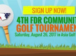 ATTENTION GOLFERS: FDR GOLF TOURNAMENT - SATURDAY, AUGUST 26